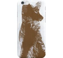 Brown Finger Painted Arctic Fox iPhone Case/Skin