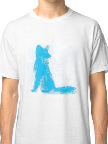 Cyan Finger Painted Arctic Fox Classic T-Shirt