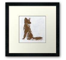 Brown Finger Painted Arctic Fox Framed Print