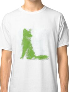 Lime Green Finger Painted Arctic Fox Classic T-Shirt