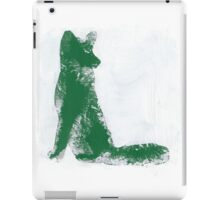 Forest Green Finger Painted Arctic Fox iPad Case/Skin