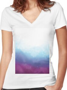 Colours of the Deep Women's Fitted V-Neck T-Shirt