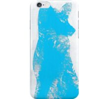 Cyan Finger Painted Arctic Fox iPhone Case/Skin