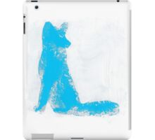 Cyan Finger Painted Arctic Fox iPad Case/Skin