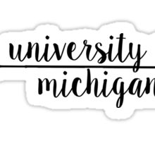 University of Michigan Sticker