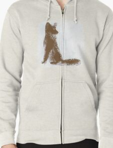 Brown Finger Painted Arctic Fox T-Shirt
