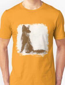 Brown Finger Painted Arctic Fox Unisex T-Shirt