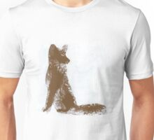 Brown Finger Painted Arctic Fox Unisex T-Shirt
