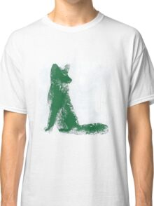 Forest Green Finger Painted Arctic Fox Classic T-Shirt