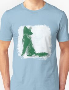 Forest Green Finger Painted Arctic Fox T-Shirt