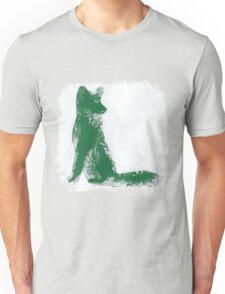Forest Green Finger Painted Arctic Fox Unisex T-Shirt