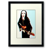 The 3D Rock'n Nun Framed Print
