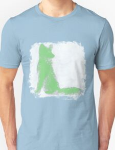 Mint Green Finger Painted Arctic Fox T-Shirt