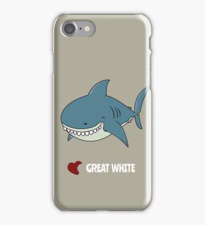 Love Great white iPhone Case/Skin