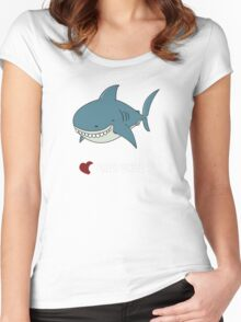 Love Great white Women's Fitted Scoop T-Shirt