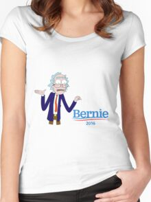 Rick and Morty for Bernie Sanders Women's Fitted Scoop T-Shirt