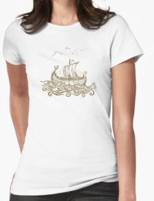 Viking ship Womens Fitted T-Shirt