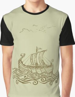 Viking ship Graphic T-Shirt