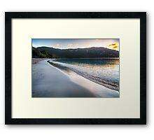 Tranquil Caribbean Beach at Sunset Framed Print