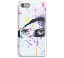 Abstract Person Peaking Through Phone Case iPhone Case/Skin