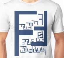 tipography F Unisex T-Shirt