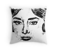 Audrey's Face Throw Pillow