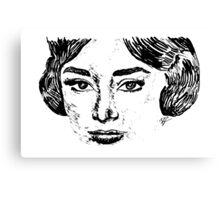 Audrey's Face Canvas Print