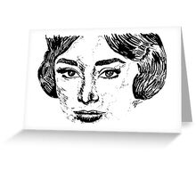 Audrey's Face Greeting Card