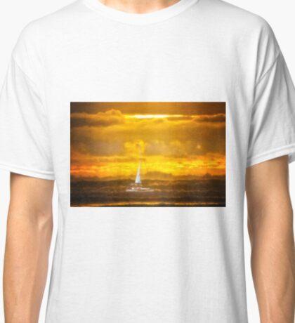 Newport/Rockaway Beach Oregon - Wave Running Classic T-Shirt