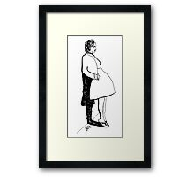 Leaning Woman Framed Print