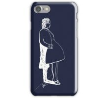Leaning Woman in Blue iPhone Case/Skin