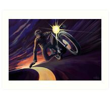 Chasing the line cafe speed racer Art Print