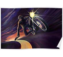 Chasing the line cafe speed racer Poster