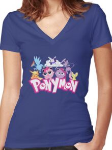 PonyMon: Friendship is captivation! Women's Fitted V-Neck T-Shirt