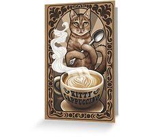 Kitty Cappuccino Greeting Card