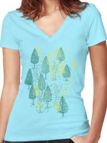 I LIKE TREES Women's Fitted V-Neck T-Shirt