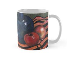 Persimmons and old wine bottle Mug