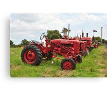 Row of Tractors Canvas Print