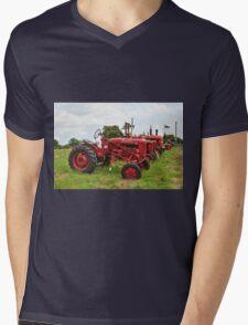 Row of Tractors Mens V-Neck T-Shirt