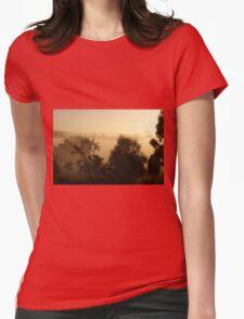 fog bound valley ~ near Gulgong NSW Womens Fitted T-Shirt