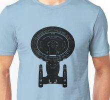 Star Trek Stencil - USS Enterprise-D Unisex T-Shirt