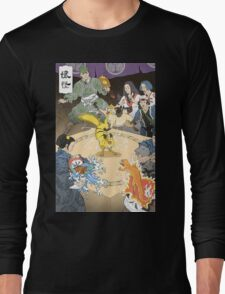 Old japan Pokemon Long Sleeve T-Shirt