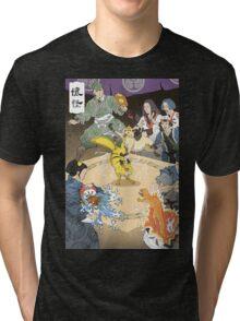 Old japan Pokemon Tri-blend T-Shirt