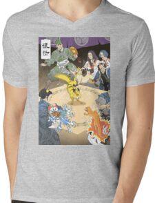 Old japan Pokemon Mens V-Neck T-Shirt