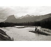 Banff National Park Series, 1974 - Castle Mtn. from the Bow River Photographic Print