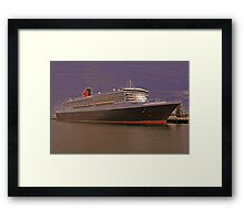 Queen Mary 2. From Photo to Painting. Framed Print