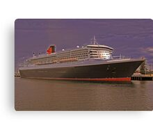 Queen Mary 2. From Photo to Painting. Canvas Print