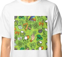 - St. Patrick`s Day pattern - Classic T-Shirt