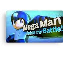Megaman Joins the Battle! Canvas Print