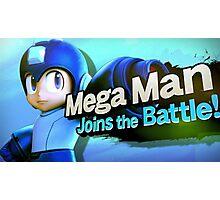 Megaman Joins the Battle! Photographic Print